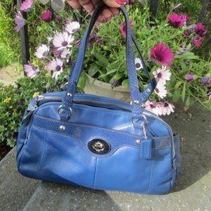 COACH Shoulder Tote Purse Bag 16529 blue